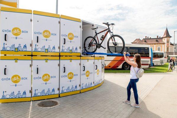 Győr Box: zárt, utcai biciklitároló