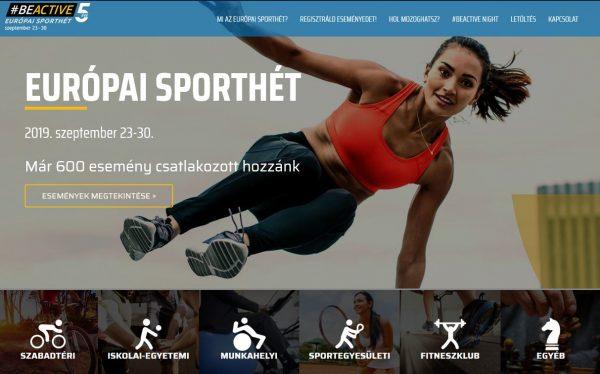 Európai Sporthét: 2019. szeptember 23-30.