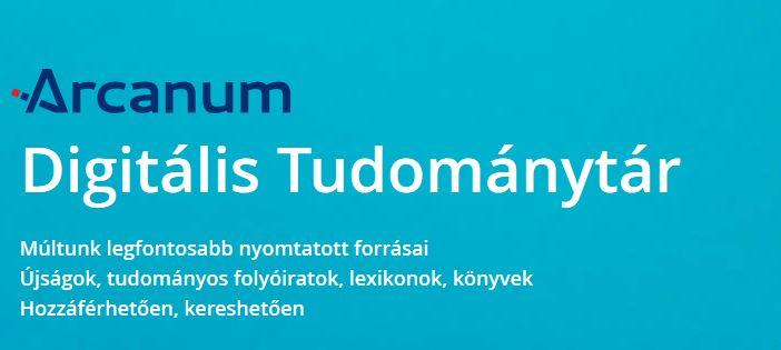 Arcanum Adatbázis Kiadó sajtóközleménye